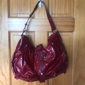 Red patent purse from Max New York